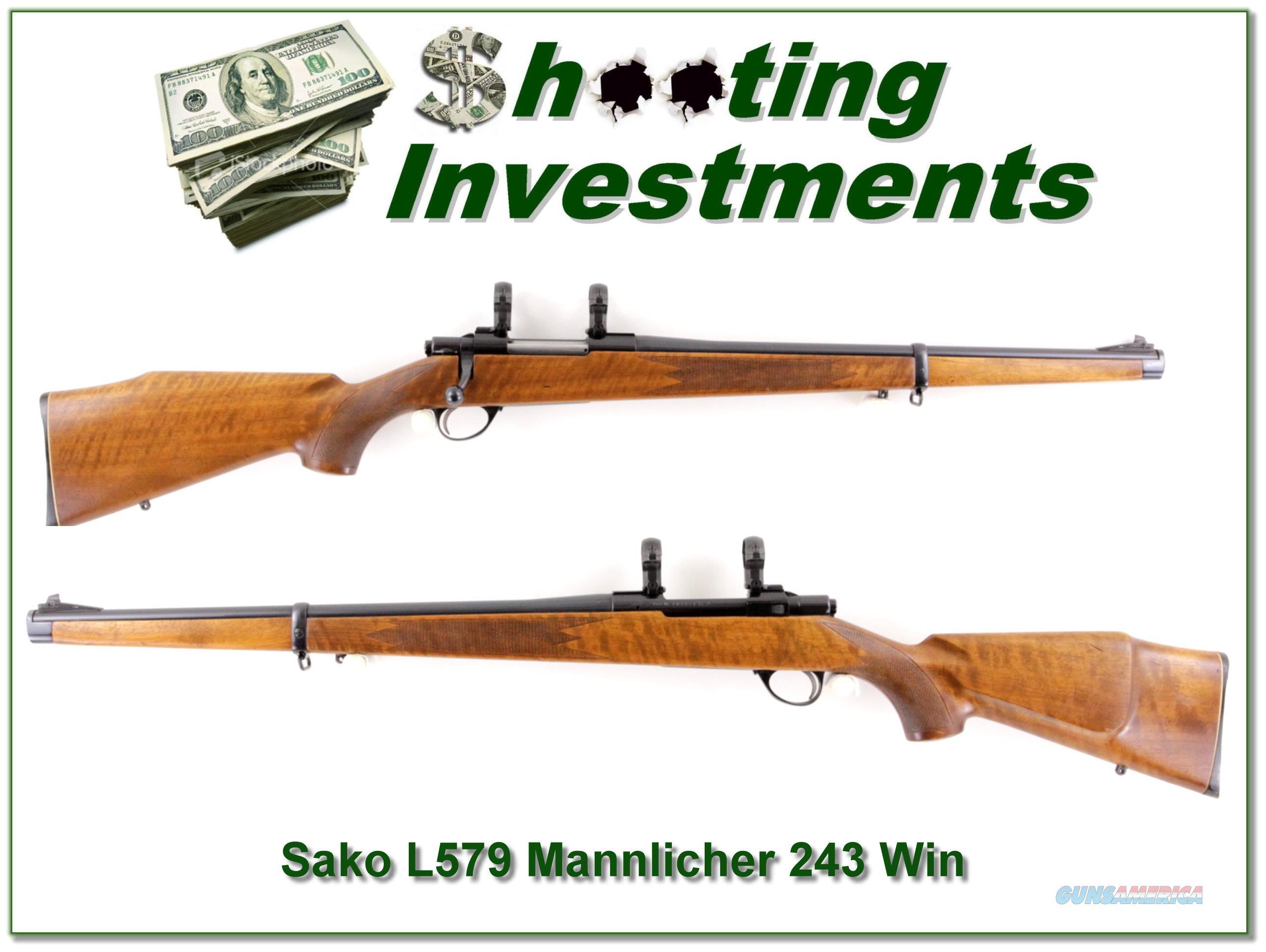Sako Forester L579 Mannlicher in 243 Winchester  Guns > Rifles > Sako Rifles > Other Bolt Action
