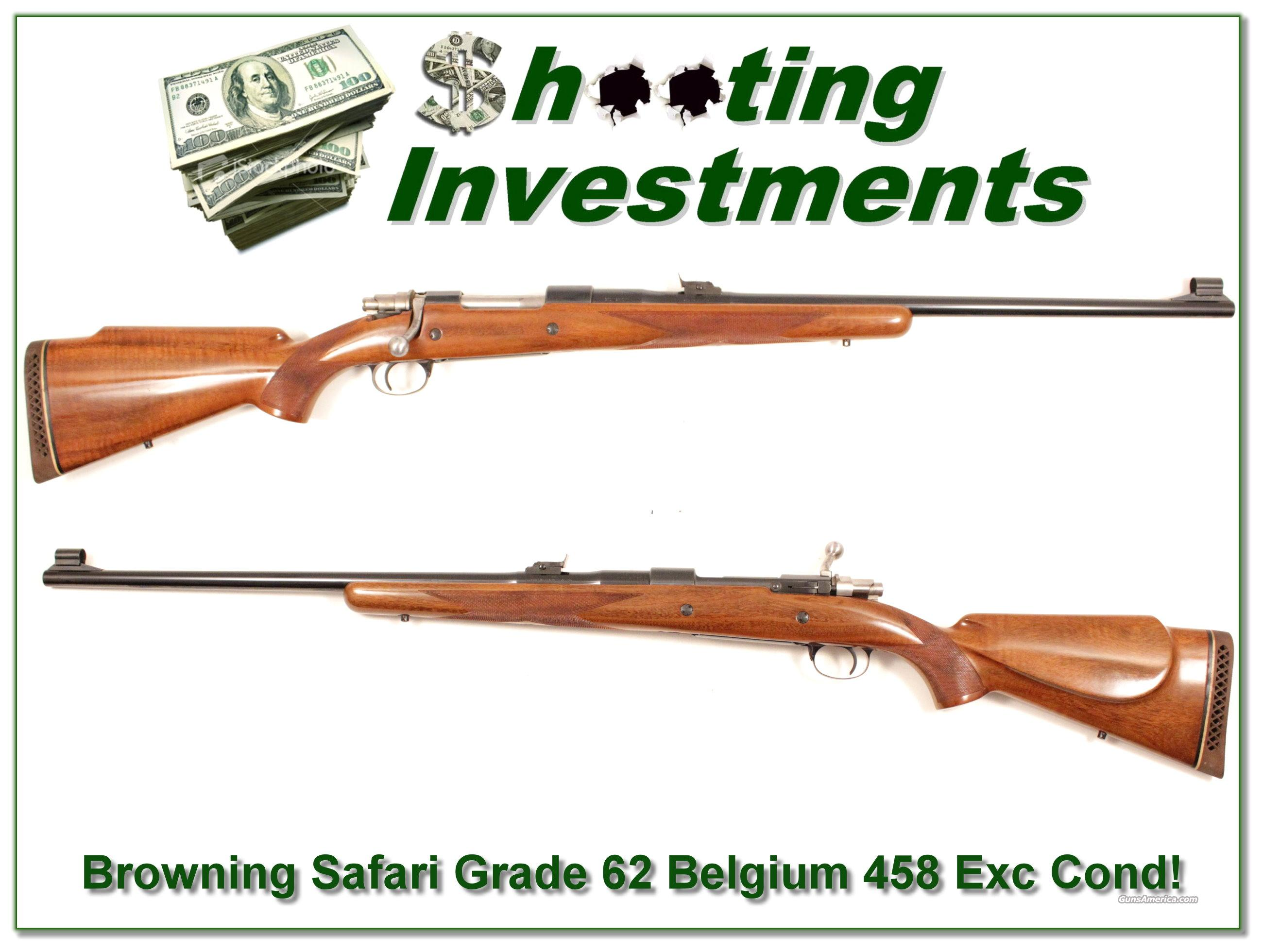 Browning Safari Grade 62 Belgium 458 Exc Cond!  Guns > Rifles > Browning Rifles > Bolt Action > Hunting > Blue