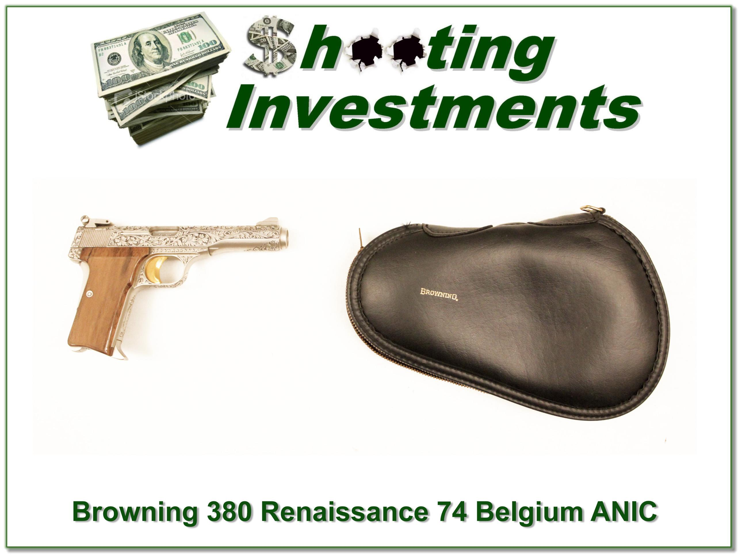 Browning 380 Renaissance 74 Belgium as new!  Guns > Pistols > Browning Pistols > Other Autos
