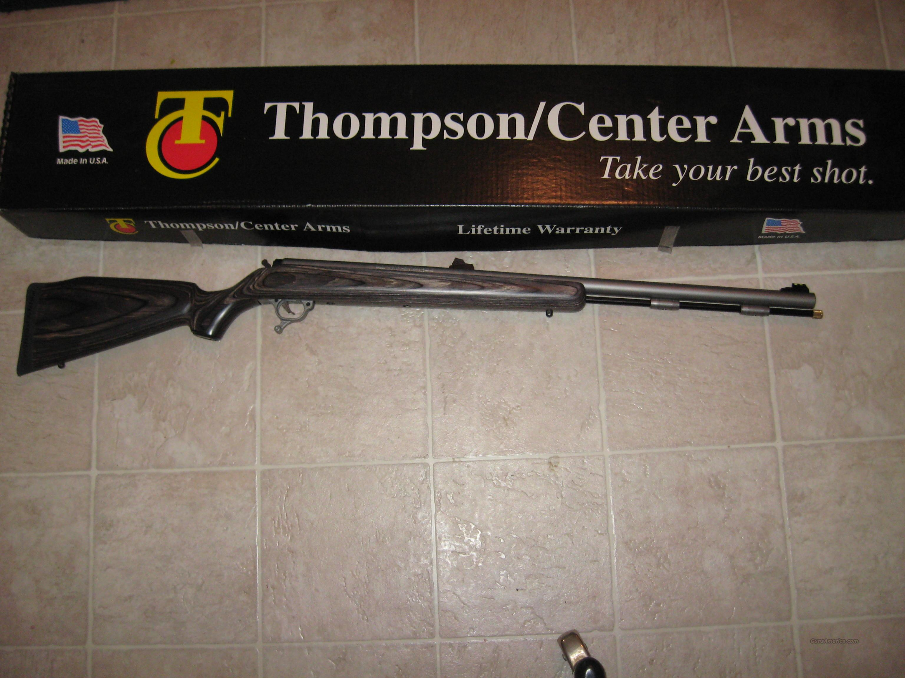 TC OMEGA STAINLESS / LAMINATE  Guns > Rifles > Thompson Center Muzzleloaders > Inline Style