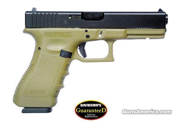 GLOCK 17 OD GREEN 9MM PISTOL ***NEW***  Guns > Pistols > Glock Pistols > 17