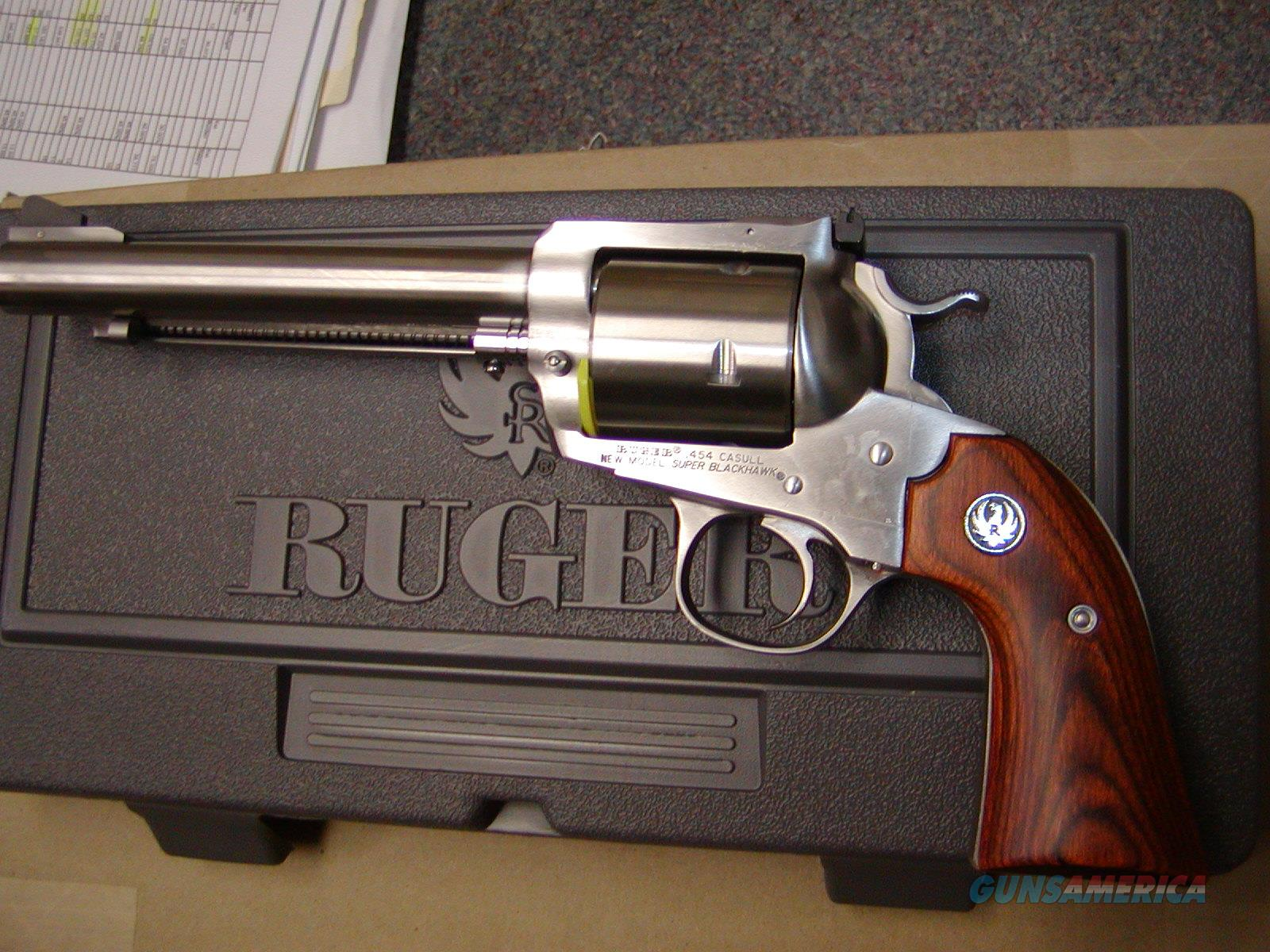 Ruger Super Blackhawk Bisley  .454 Casull Stainless  Guns > Pistols > Ruger Single Action Revolvers > Blackhawk Type