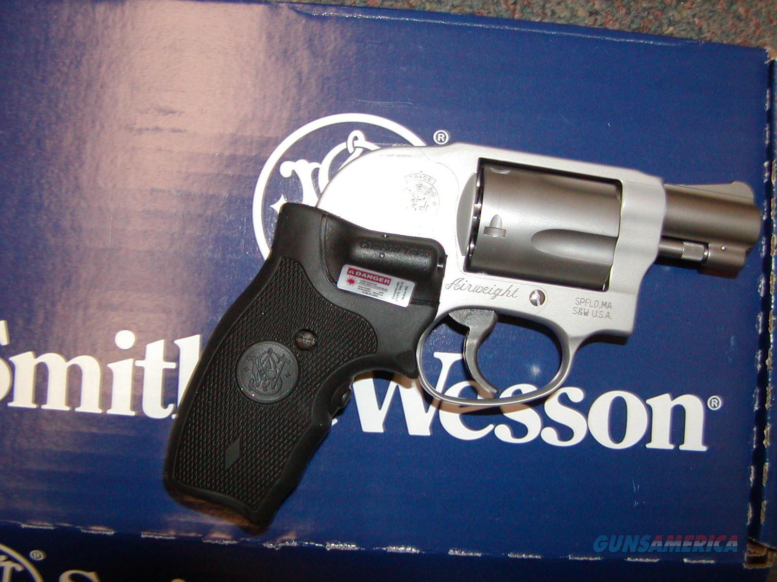 S & W M638 Crimson Trace  .38 Spl +P  Guns > Pistols > Smith & Wesson Revolvers > Pocket Pistols