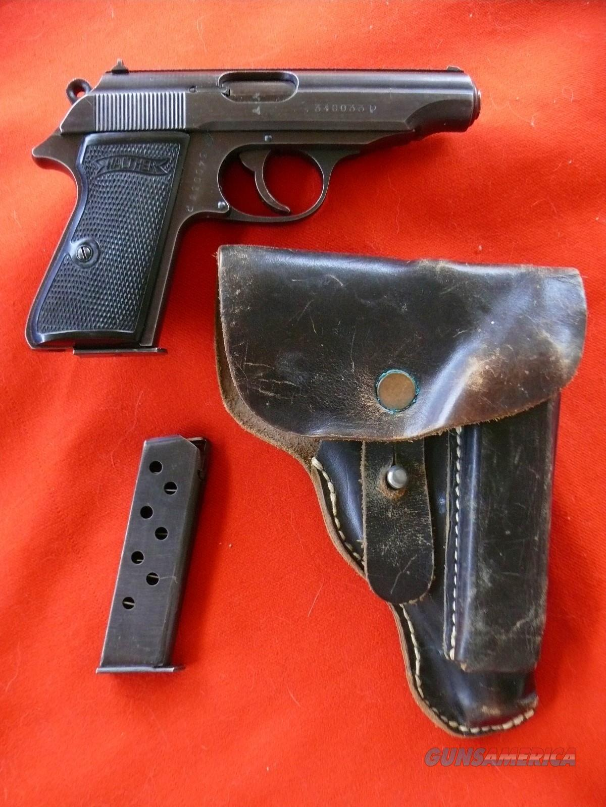 Walther PP .32  7.65mm Nazi Military w Holster 1944  w 2 mags  Guns > Pistols > Walther Pistols > Pre-1945 > PP