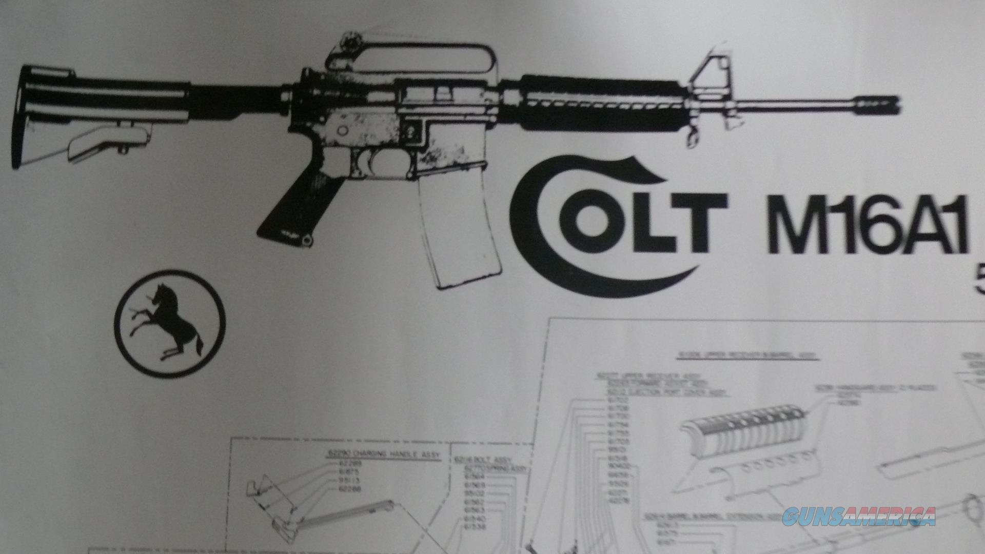 Vintage COLT M16A1 Carbine Poster factory Part No. 91962 Pre- M4  Non-Guns > Artwork