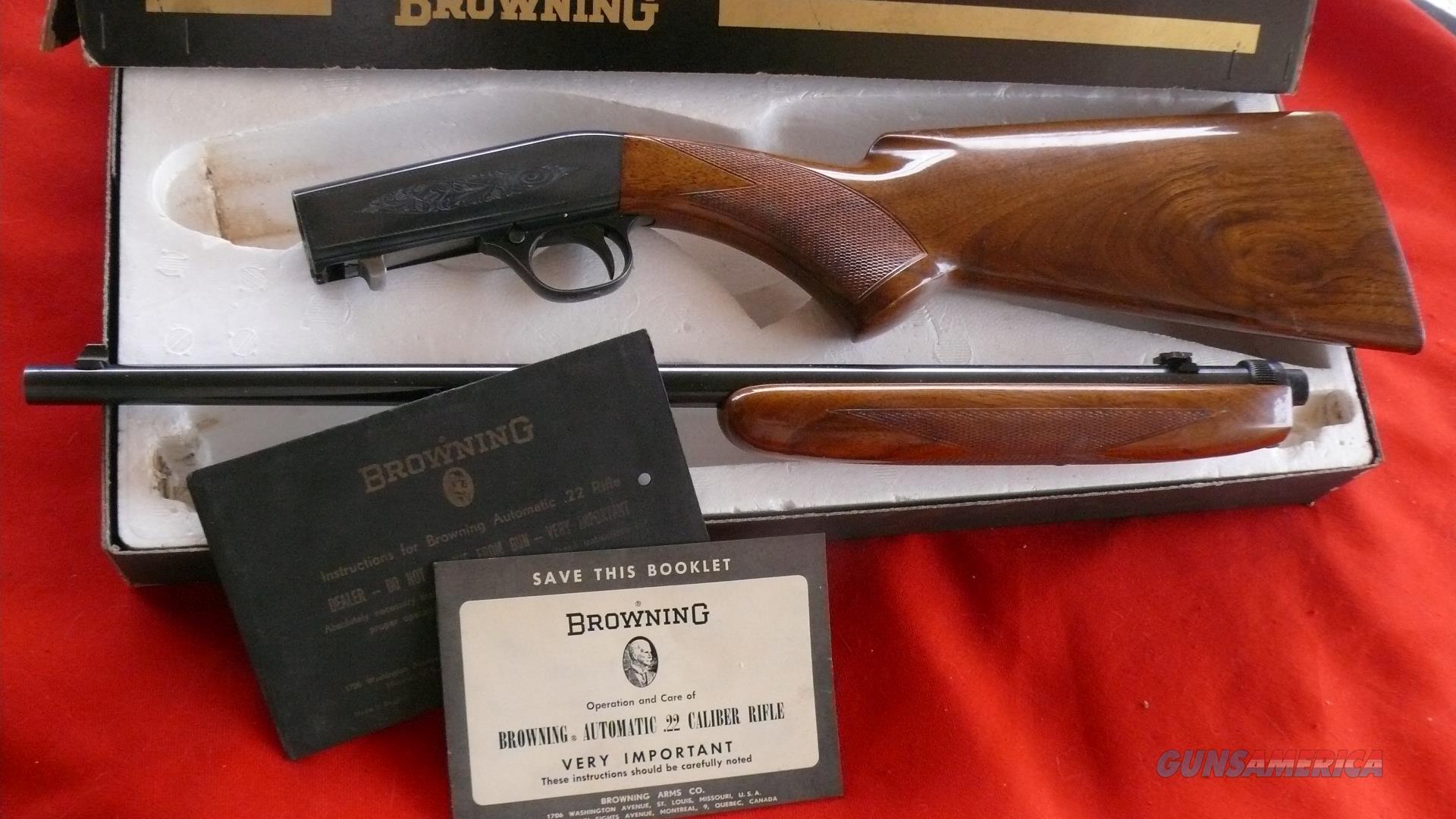 Belgian Browning 22 Auto Takedown LNIB  Exc .22LR in Box  Guns > Rifles > Browning Rifles > Semi Auto > Hunting