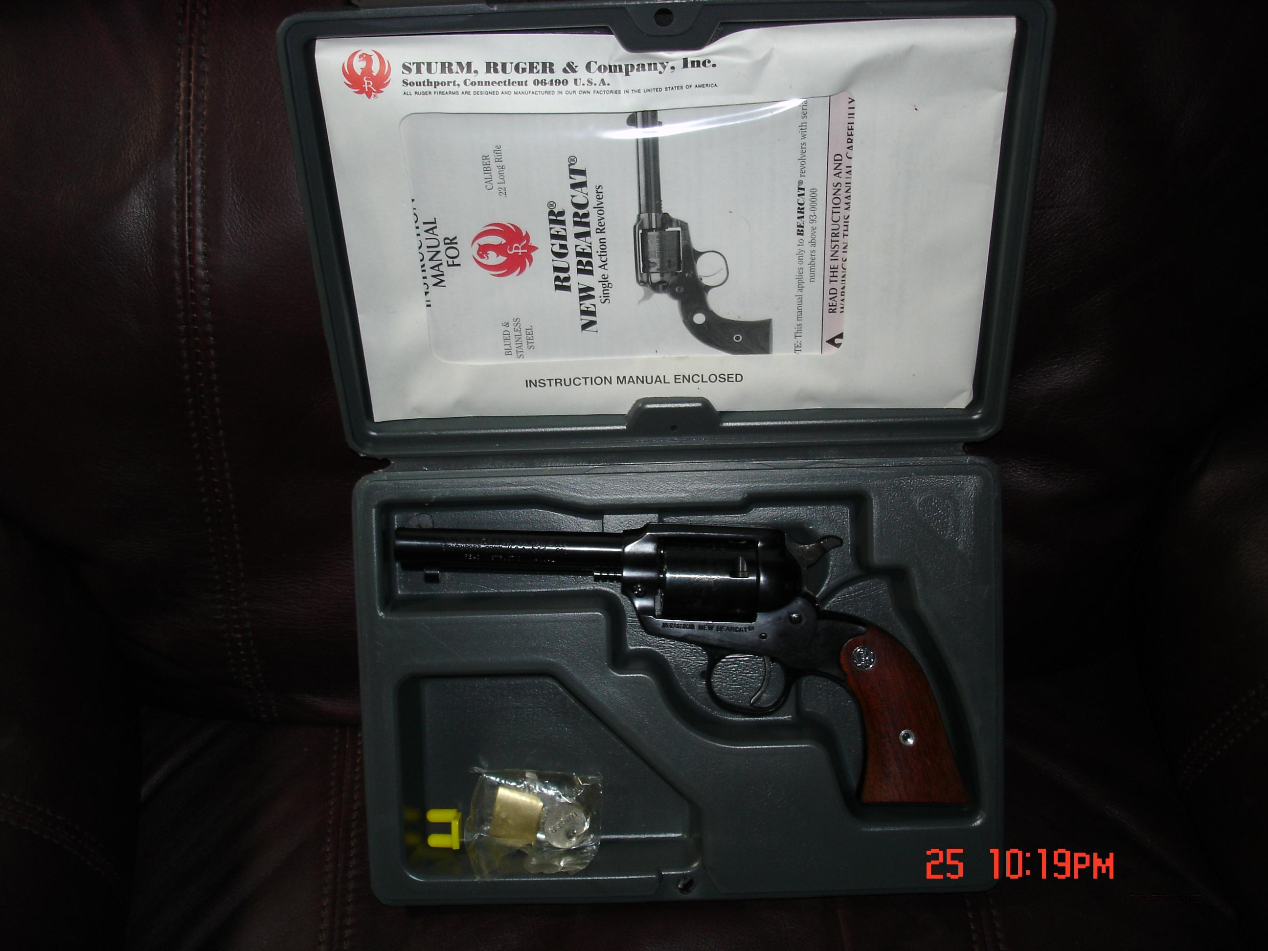 Ruger New Bearcat .22LR - Blue  Guns > Pistols > Ruger Single Action Revolvers > Single Six Type