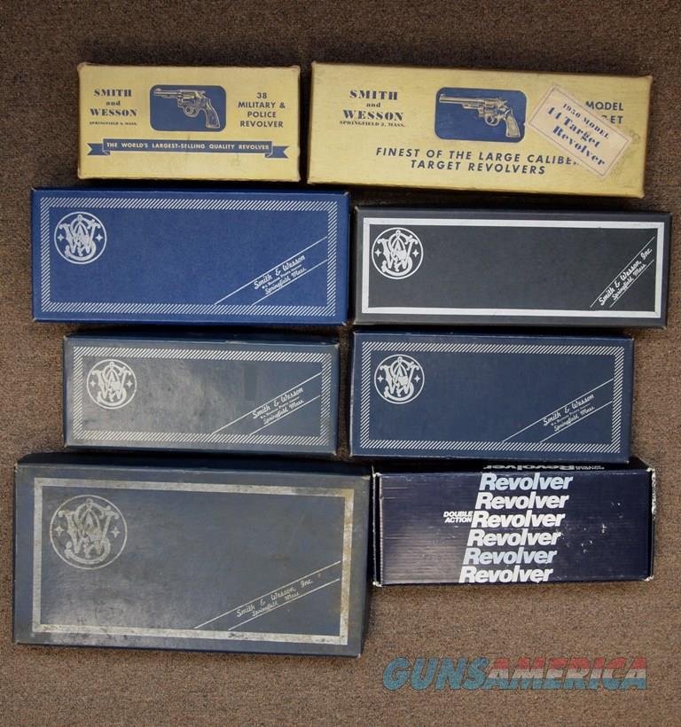 S&W Boxes, Lot Of 8  Non-Guns > Gun Cases
