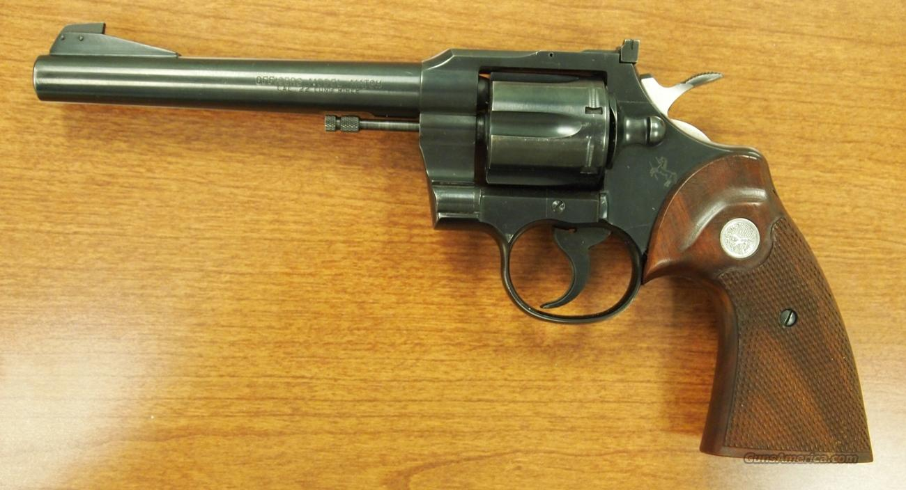 Colt Officers Model Match, .22LR  Guns > Pistols > Colt Double Action Revolvers- Modern