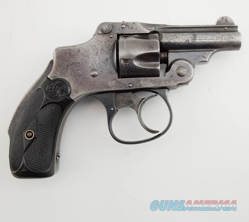 S&W 32 Safety Hammerless 2nd Model Bicycle MFG 1902 - 1909 .32 S&W  Guns > Pistols > Smith & Wesson Revolvers > Pre-1945
