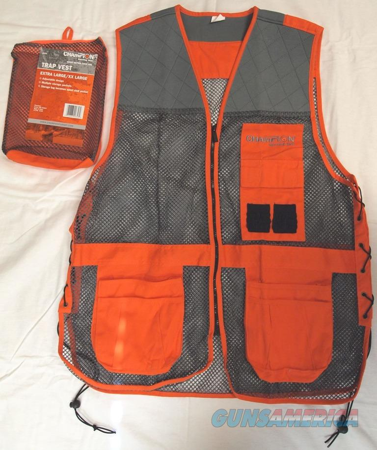 Champion Shooting Gear Trap Vest, Blaze Orange and Grey  Non-Guns > Hunting Clothing and Equipment > Clothing > Vests