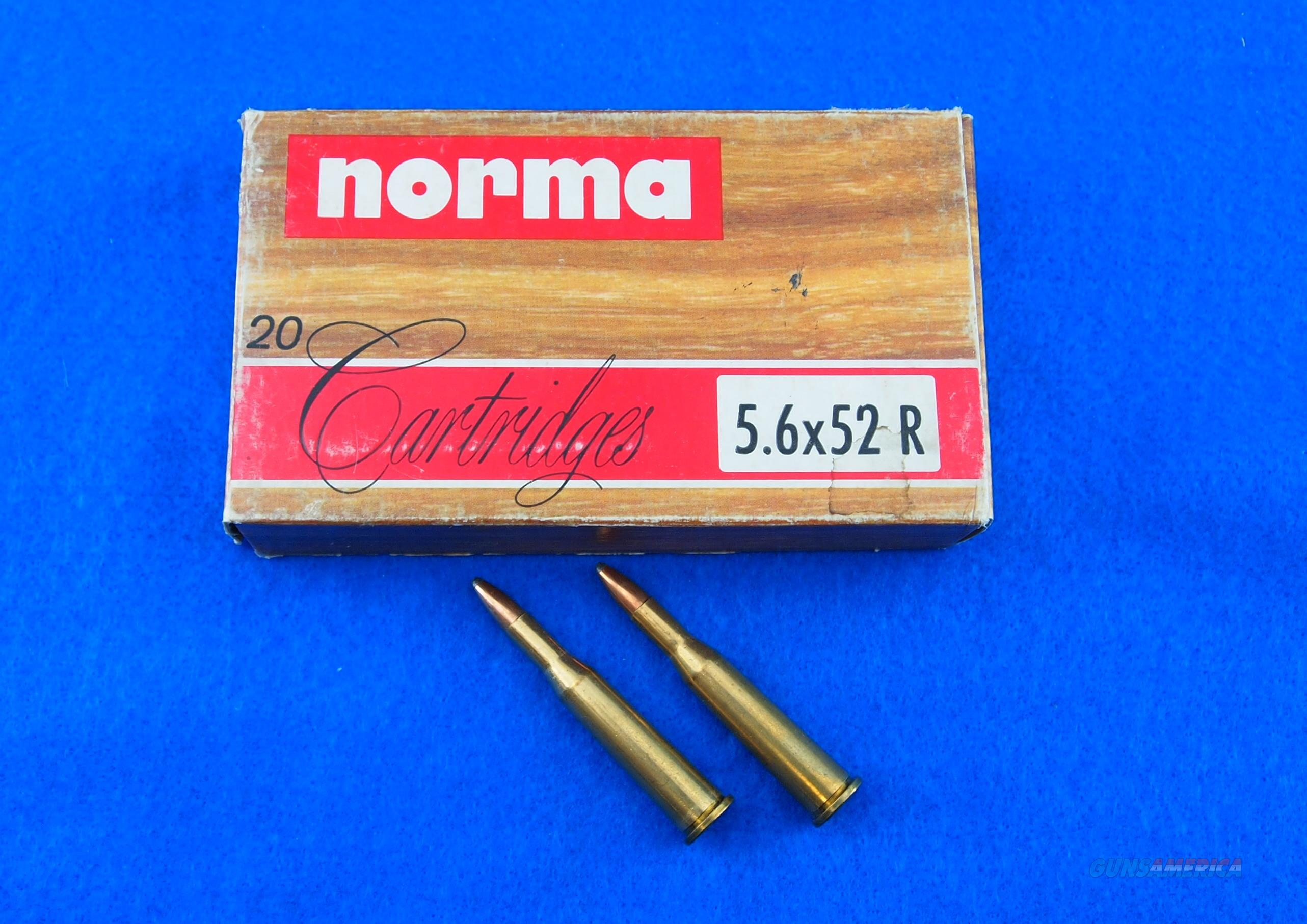 NORMA 5.6X52R (.22 SAVAGE HI-POWER) AMMO  Non-Guns > Ammunition