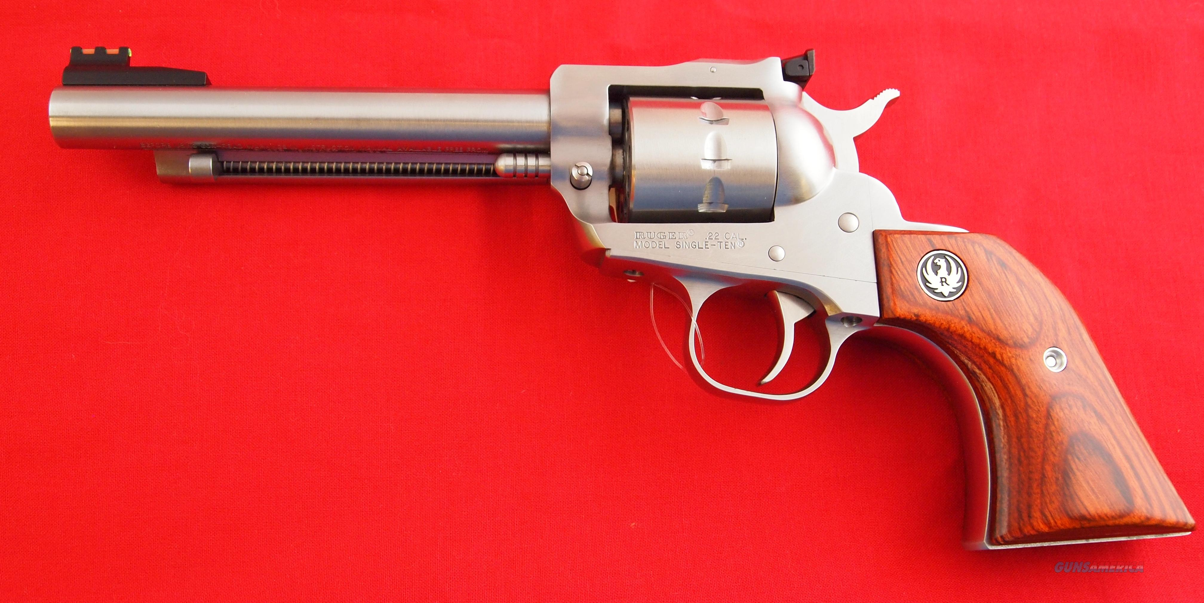 RUGER Stainless Single Ten 10 Shot Revolver in 22CAL.  Guns > Pistols > Ruger Single Action Revolvers > Cowboy Action