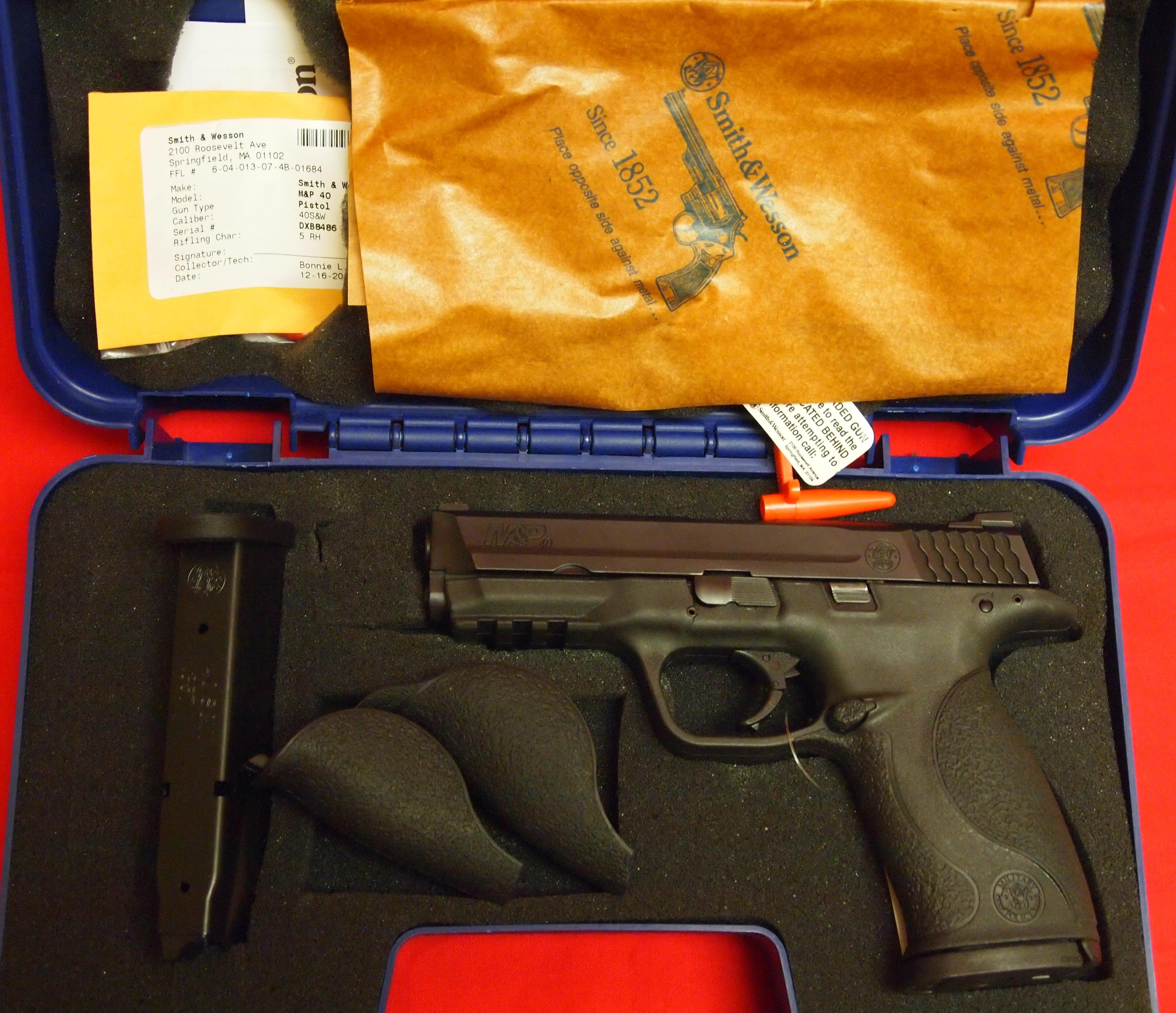 Smith & Wesson M&P40 .40S&W  Guns > Pistols > Smith & Wesson Pistols - Autos > Polymer Frame