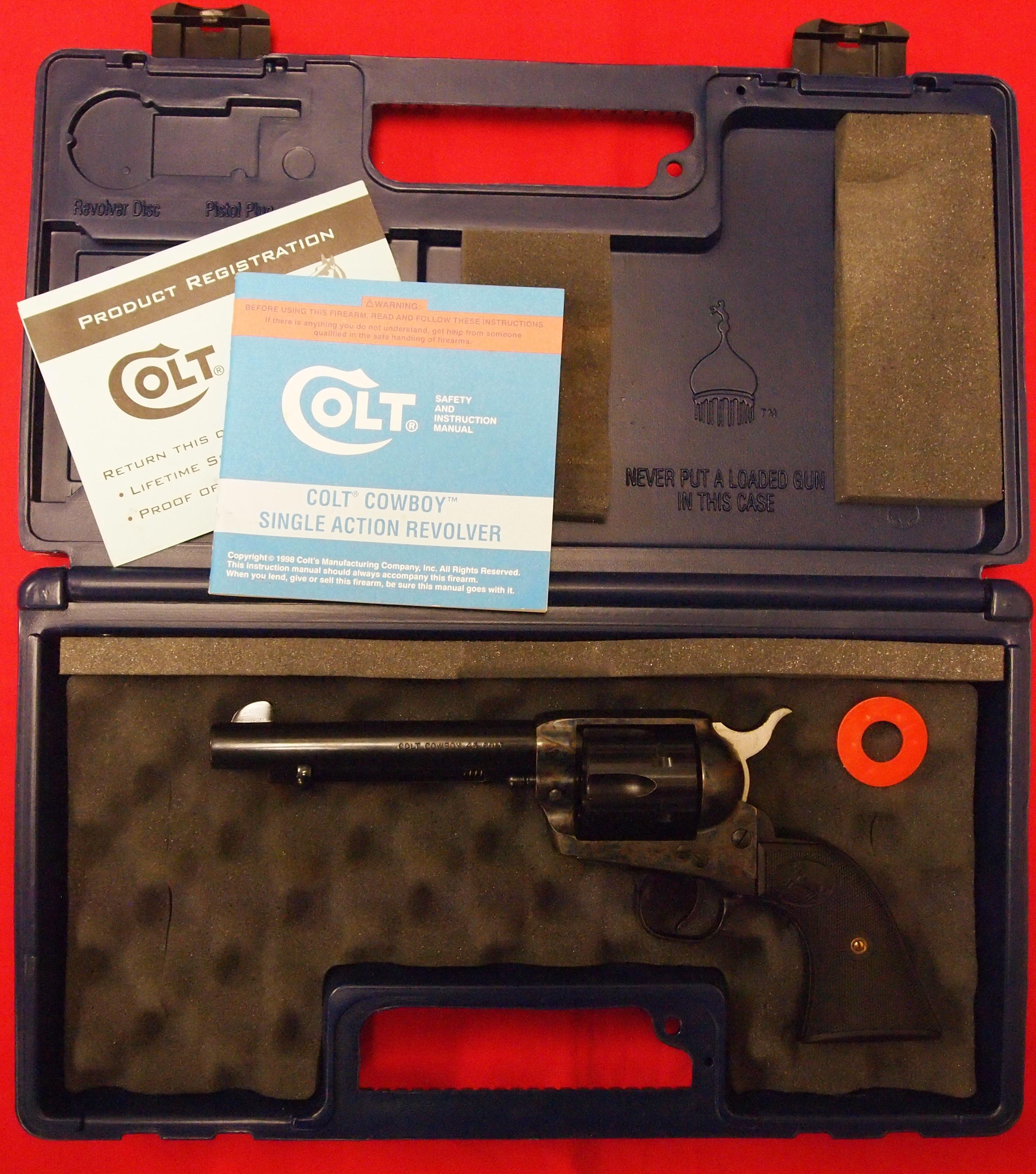 Colt Cowboy Single Action .45 Colt  Guns > Pistols > Colt Single Action Revolvers - 3rd Gen.