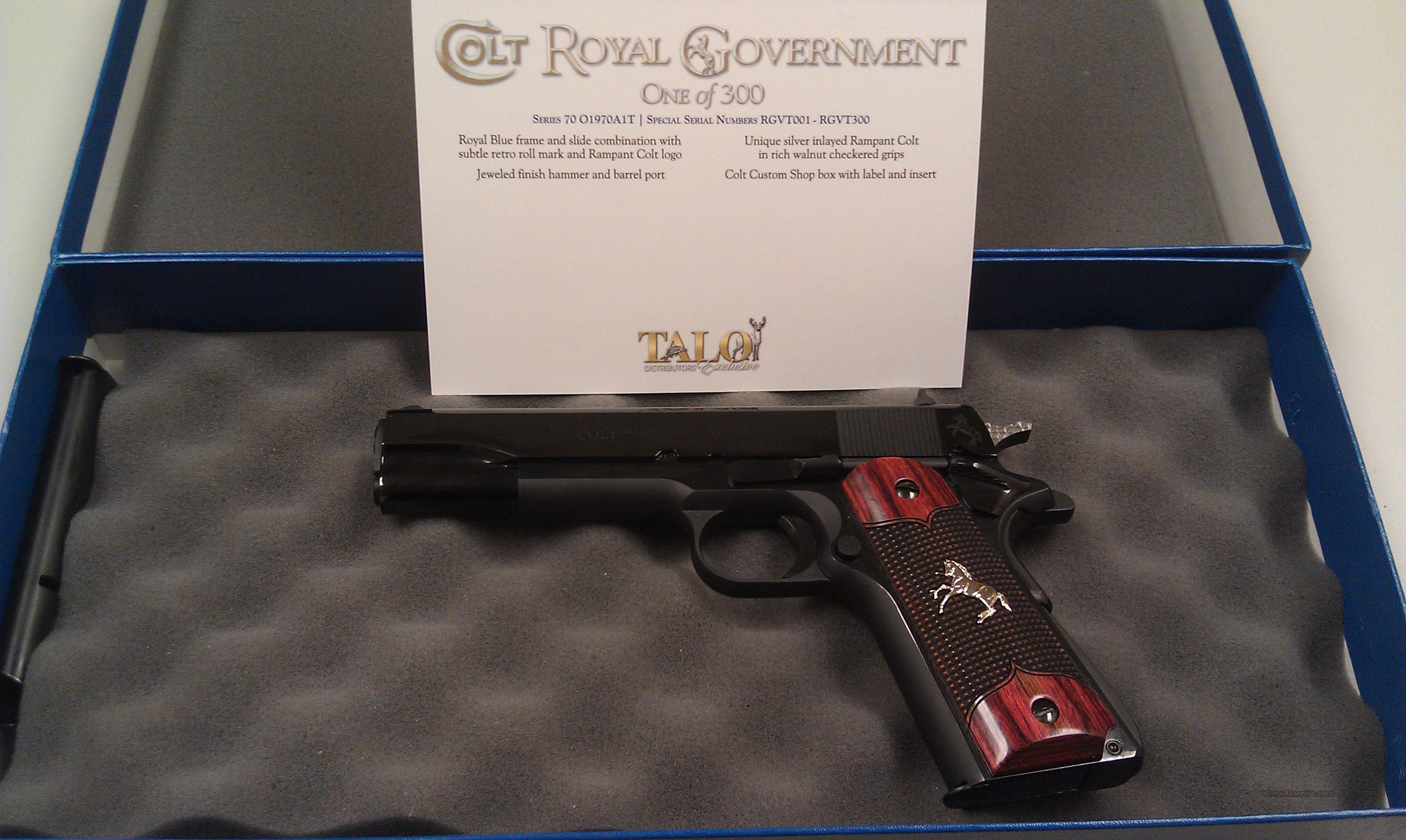 Colt Royal Government 1911  Guns > Pistols > Colt Automatic Pistols (1911 & Var)