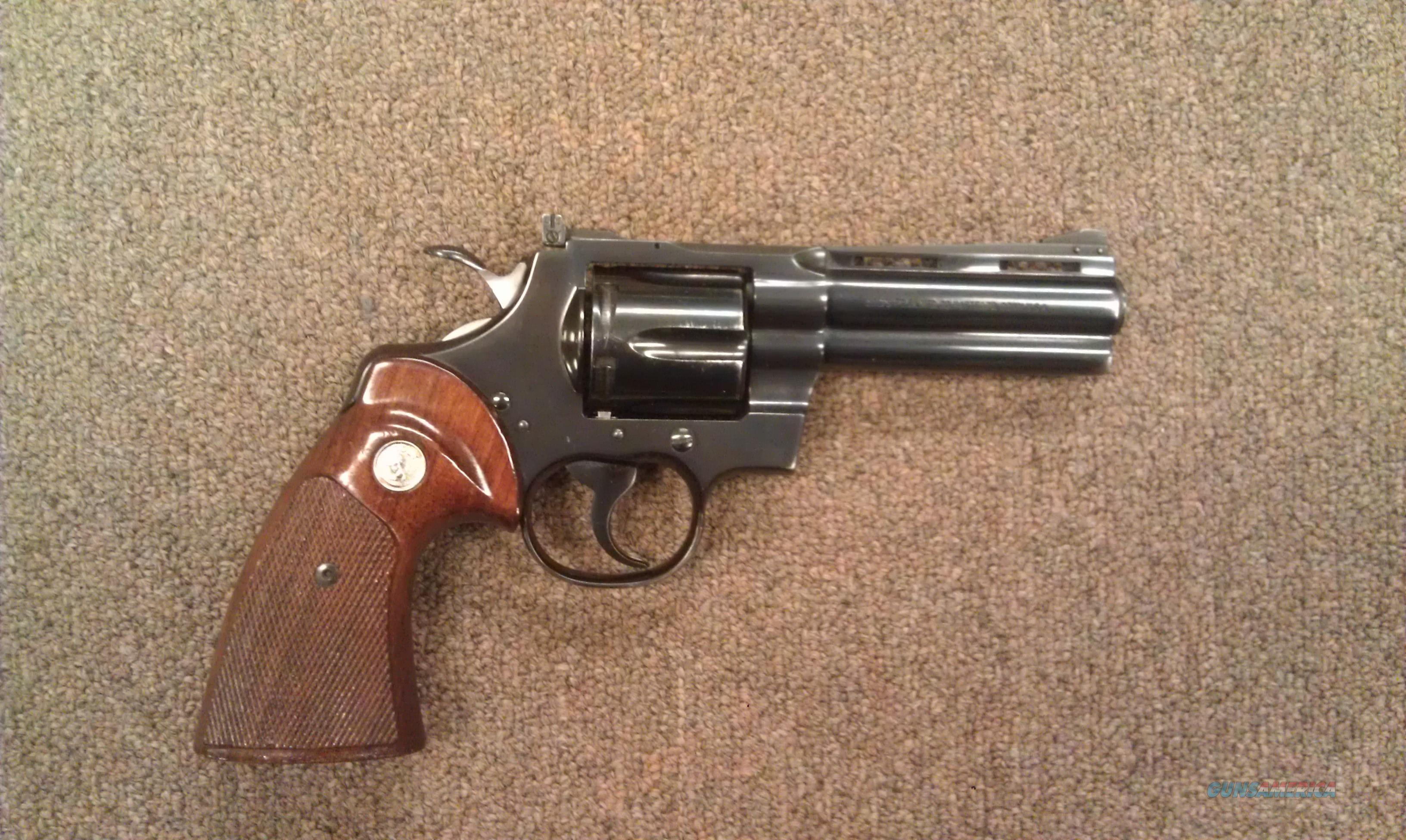 "Colt Python 4"" Blued  Guns > Pistols > Colt Double Action Revolvers- Modern"