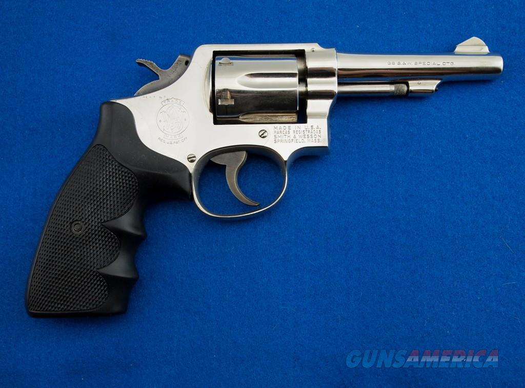 S&W 10-5 Nickel MFG 1962 .38 SPL  Guns > Pistols > Smith & Wesson Revolvers > Model 10