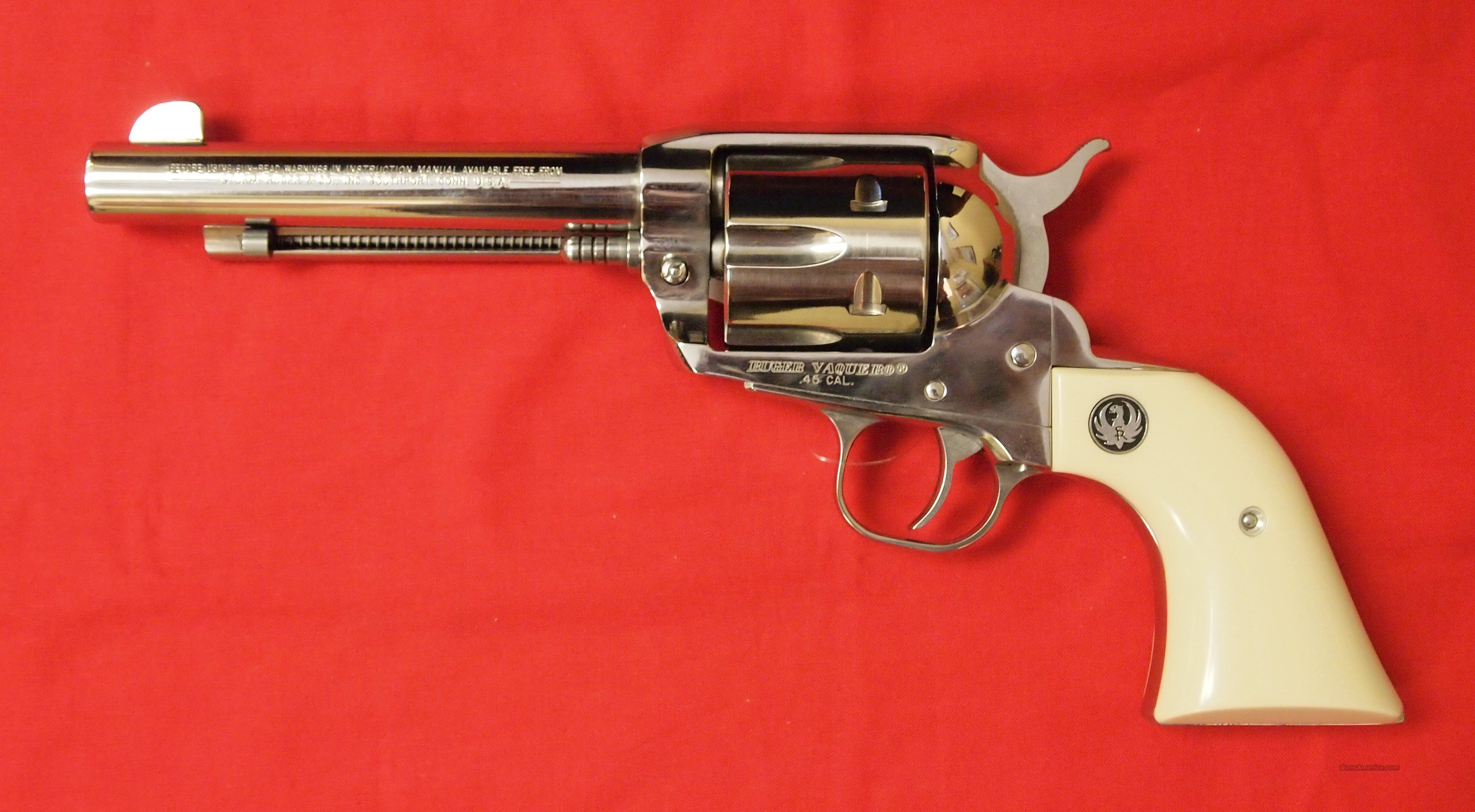 Ruger Vaquero Stainless Steel .45LC  Guns > Pistols > Ruger Single Action Revolvers > Single Six Type