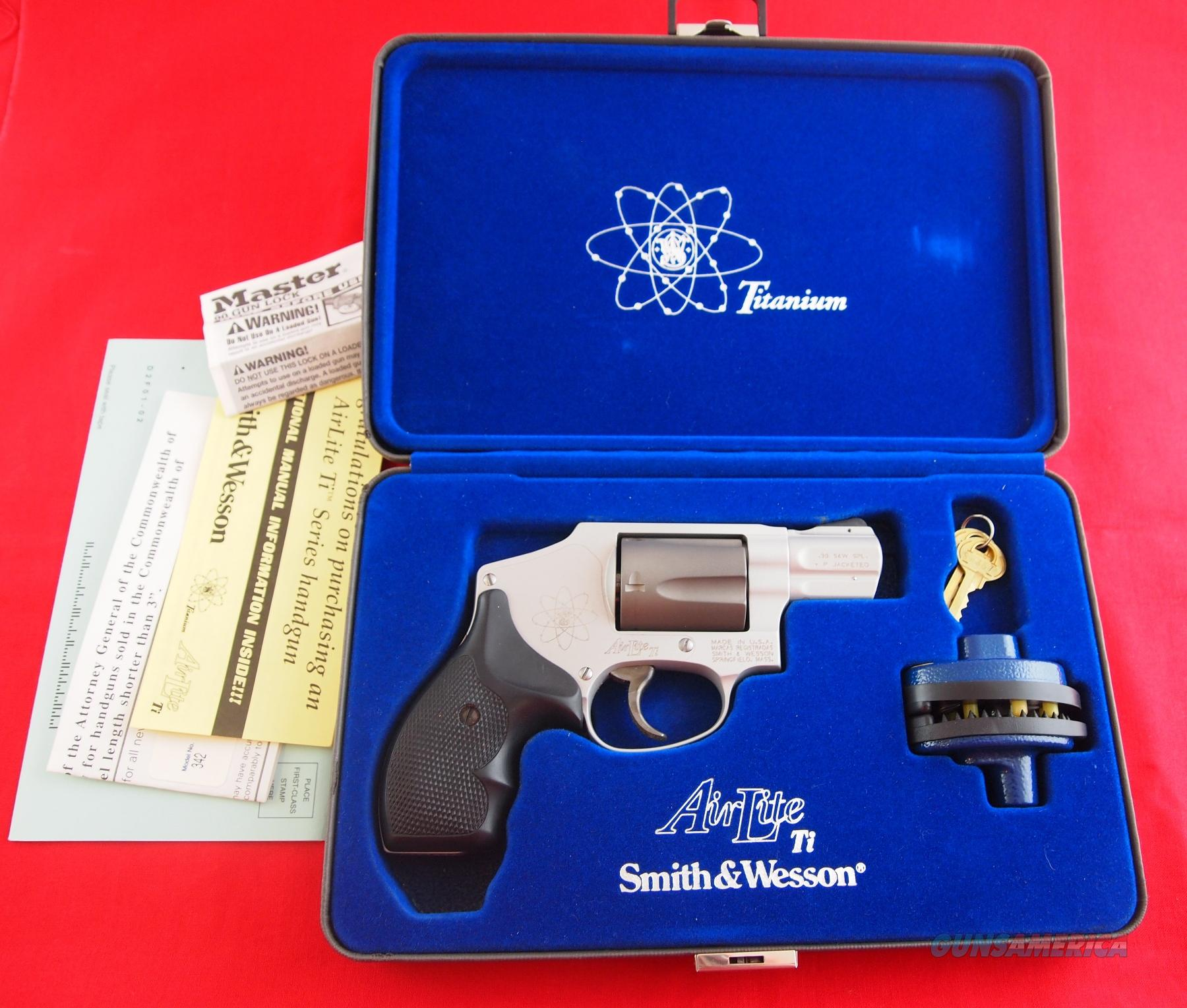 Smith & Wesson 342 Airlight TI .38 Special +P  Guns > Pistols > Smith & Wesson Revolvers > Pocket Pistols
