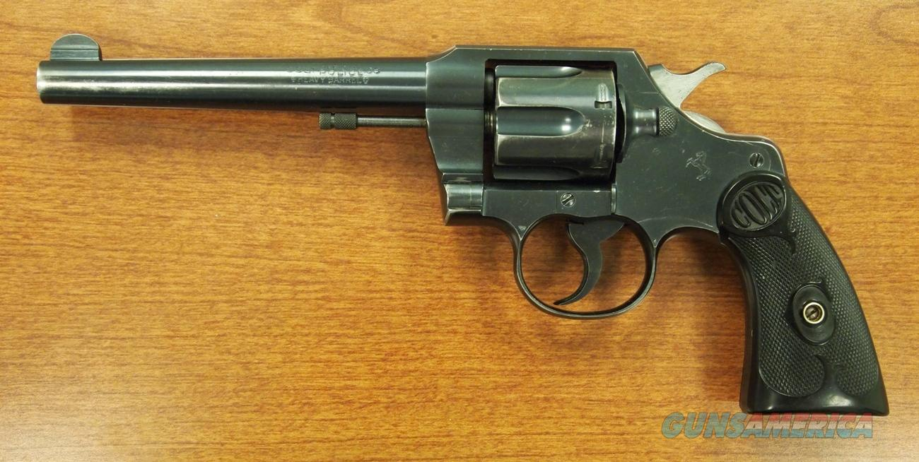 COLT OFFICIAL POLICE, HEAVY BARREL .38 SPECIAL  Guns > Pistols > Colt Double Action Revolvers- Modern