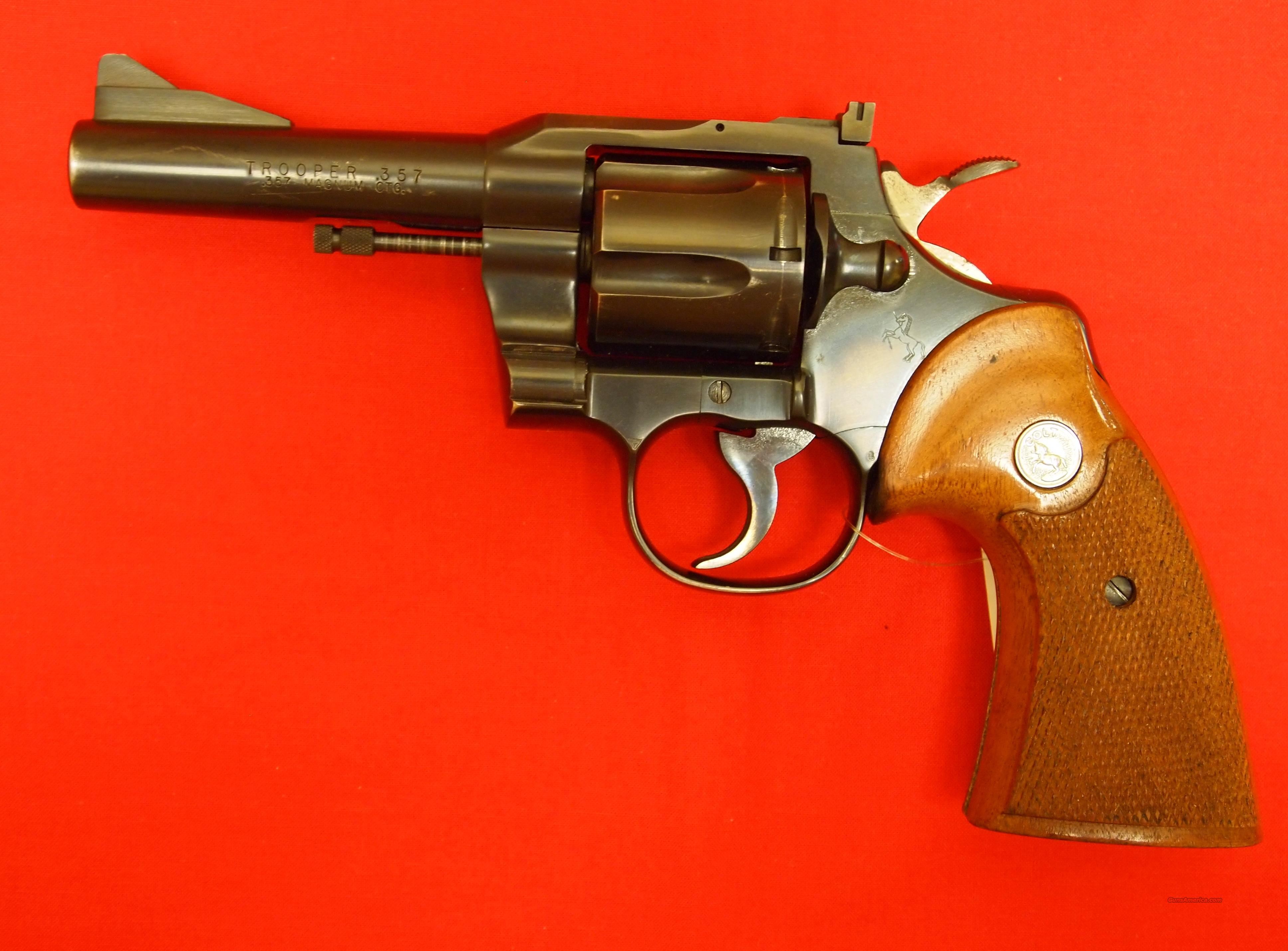 Colt Trooper .357 Magnum (Mfg. 1967),   Guns > Pistols > Colt Double Action Revolvers- Modern