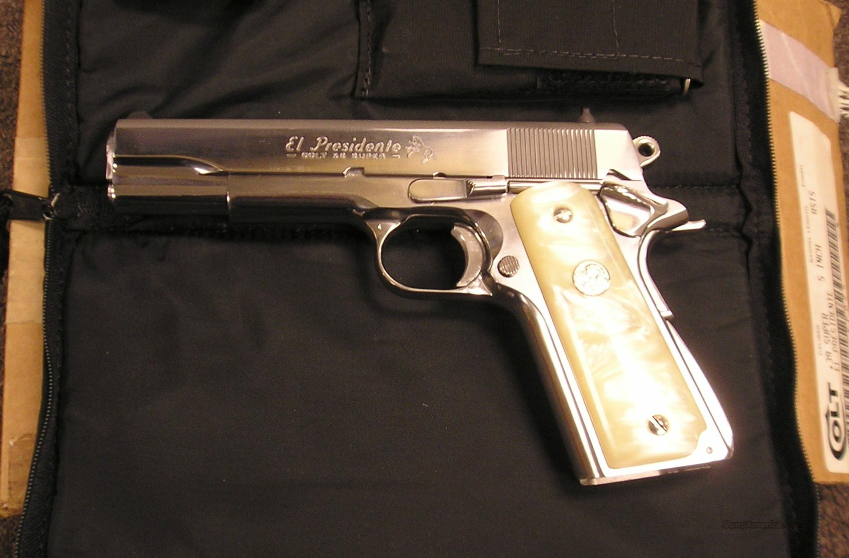 Colt EL PRESIDENTE 38 Super  Guns > Pistols > Colt Commemorative Pistols