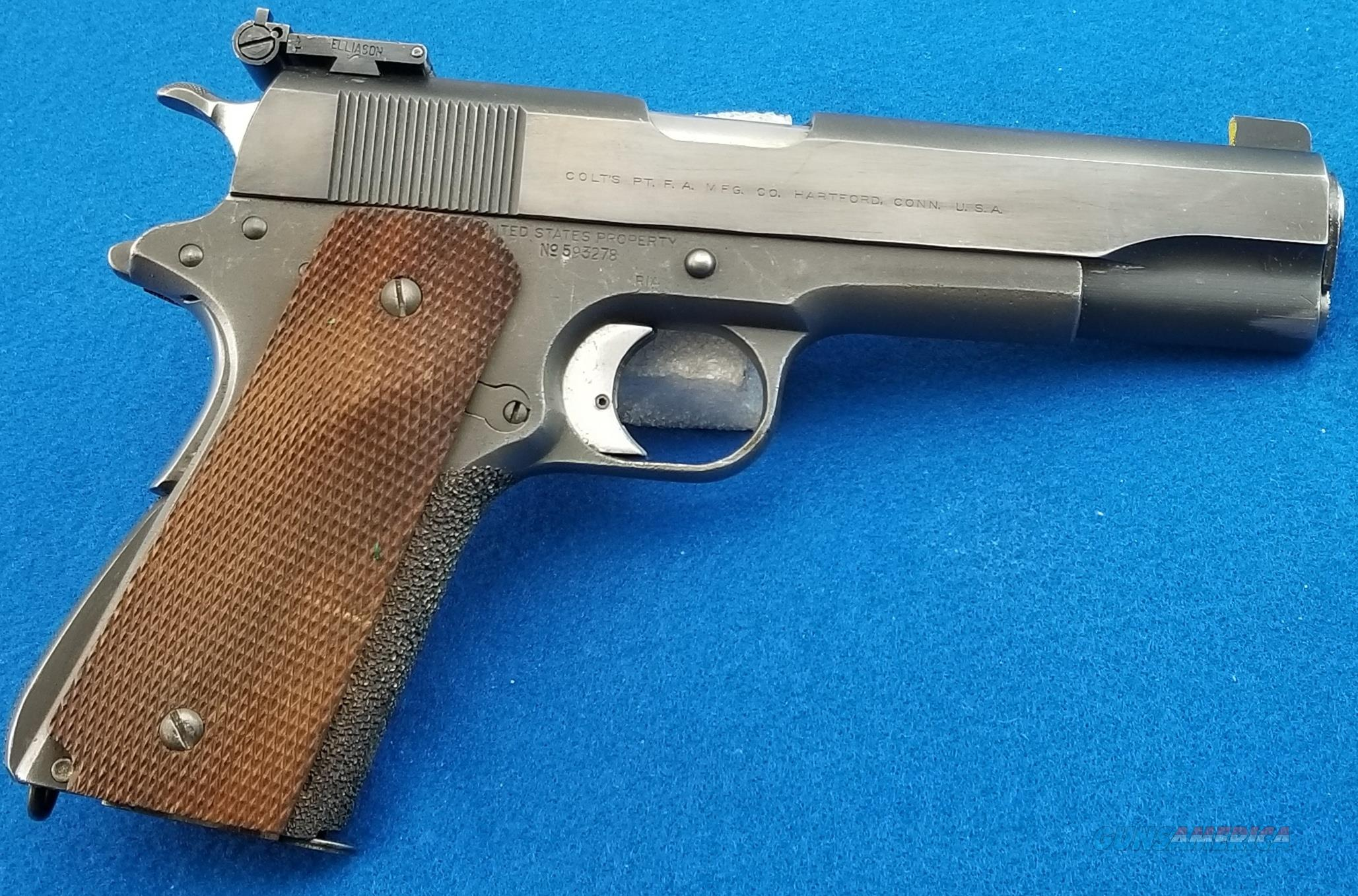 Colt 1911 .45 (1918 mfg frame/pre series '70 slide)  Guns > Pistols > Colt Automatic Pistols (1911 & Var)