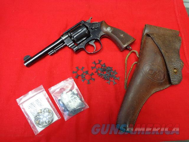 S & W DA45 , U.S. ARMY MODEL 1917 , 45 AUTO RIM  Guns > Pistols > Smith & Wesson Revolvers > Pre-1945