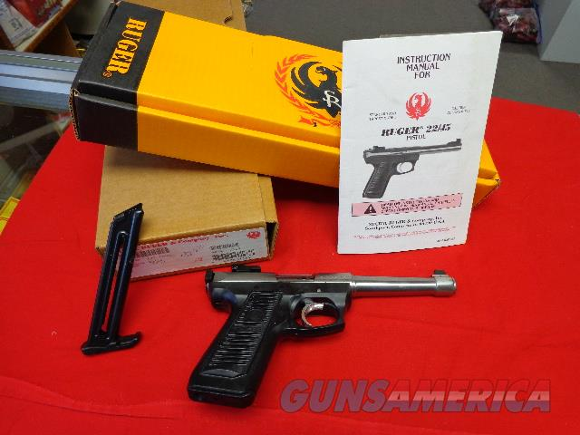 RUGER 22/45 STAINLESS TARGET IN 22LR  Guns > Pistols > Ruger Semi-Auto Pistols > 22/45