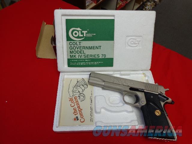 COLT MK IV SERIES 70 GOVERNMENT IN 45 ACP  Guns > Pistols > Colt Automatic Pistols (1911 & Var)