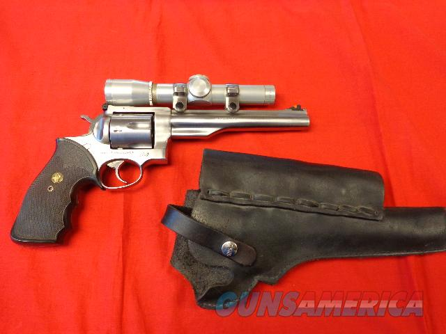 RUGER REDHAWK HUNTER IN 44 MAG WITH LEUPOLD  Guns > Pistols > Ruger Double Action Revolver > Redhawk Type