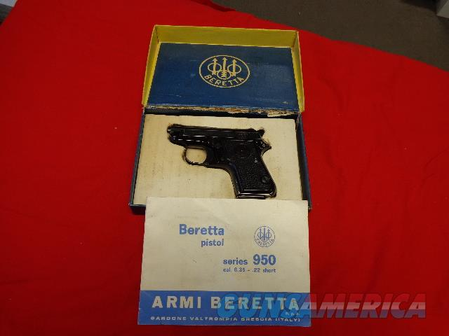 BERETTA MODEL 950 B IN 22 SHORT TIP UP  Guns > Pistols > Beretta Pistols > Small Caliber Tip Out