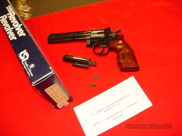 SMITH & WESSON 19-5 WITH A PYTHON BARREL  Guns > Pistols > Smith & Wesson Revolvers > Full Frame Revolver