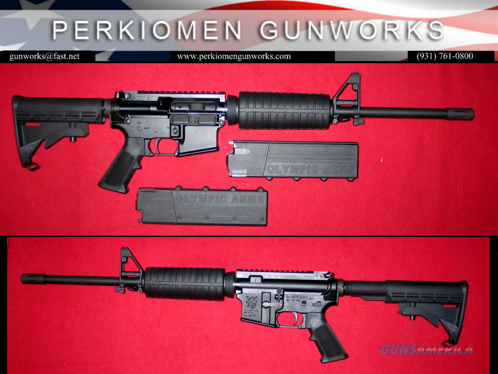 AR-45 semi-auto rifle, .45ACP, 16 inch bbl.  Guns > Rifles > Olympic Arms Rifles