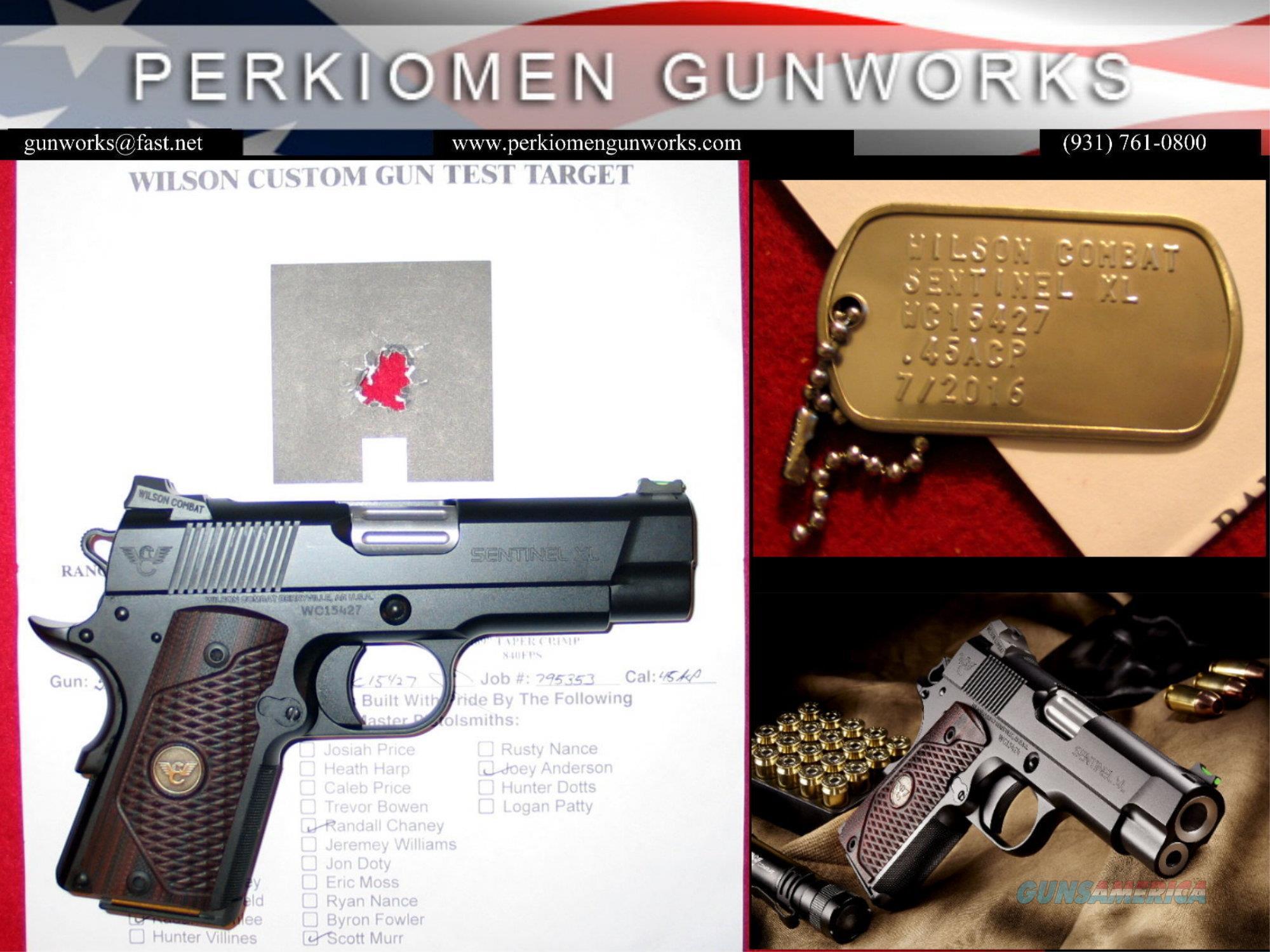 Sentinel XL, 45acp, Armor-Tuff New Model packed with options.  Guns > Pistols > Wilson Combat Pistols