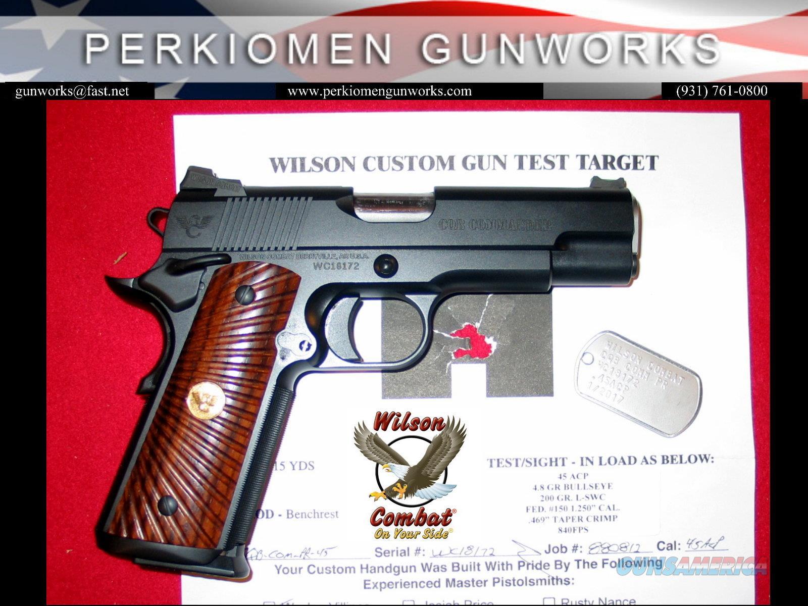 CQB Commander Armor-Tuff .45acp with Upgrades, New in case.  Guns > Pistols > Wilson Combat Pistols