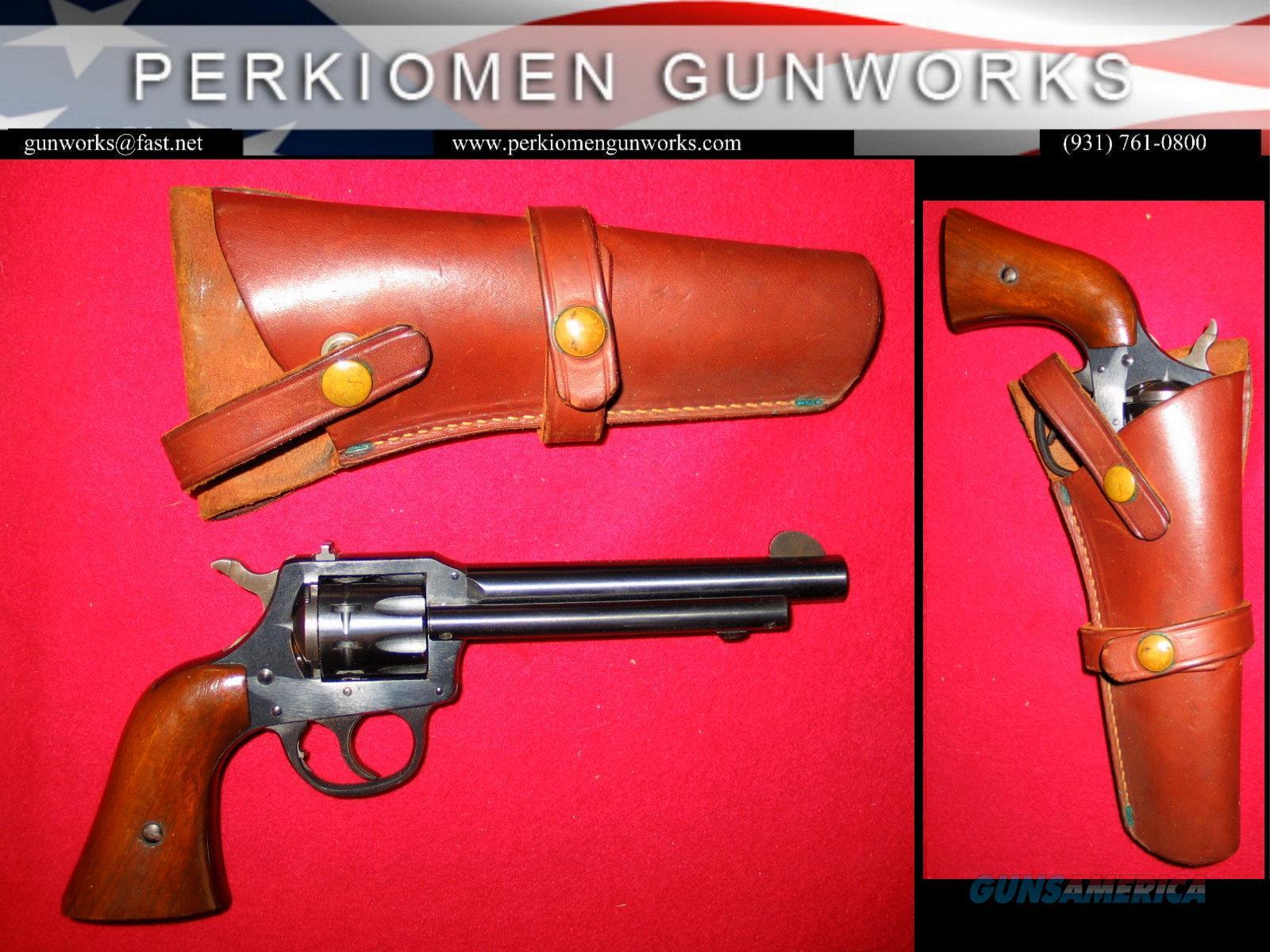 """Model 949 """"Forty Niner"""" 5.5"""", .22LR, dates 1964, w/holster  Guns > Pistols > Harrington & Richardson Pistols"""