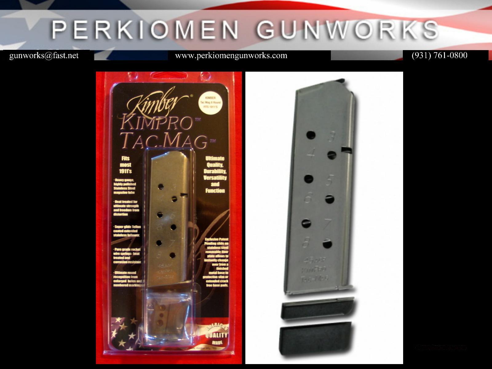 Kimber KimPro Tac-Mag, SS, Full size 45acp  Non-Guns > Magazines & Clips > Pistol Magazines > 1911