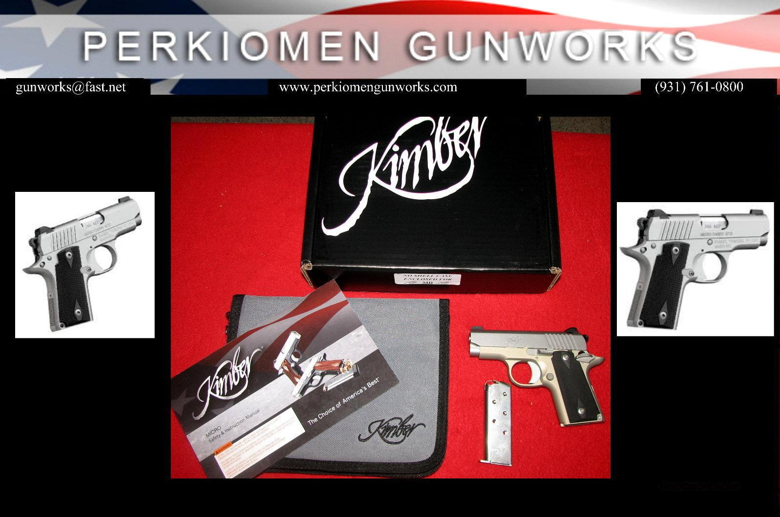 Micro Carry STS (Stainless) .380acp, New in Box. **SPECIAL SALE**  Guns > Pistols > Kimber of America Pistols > Micro