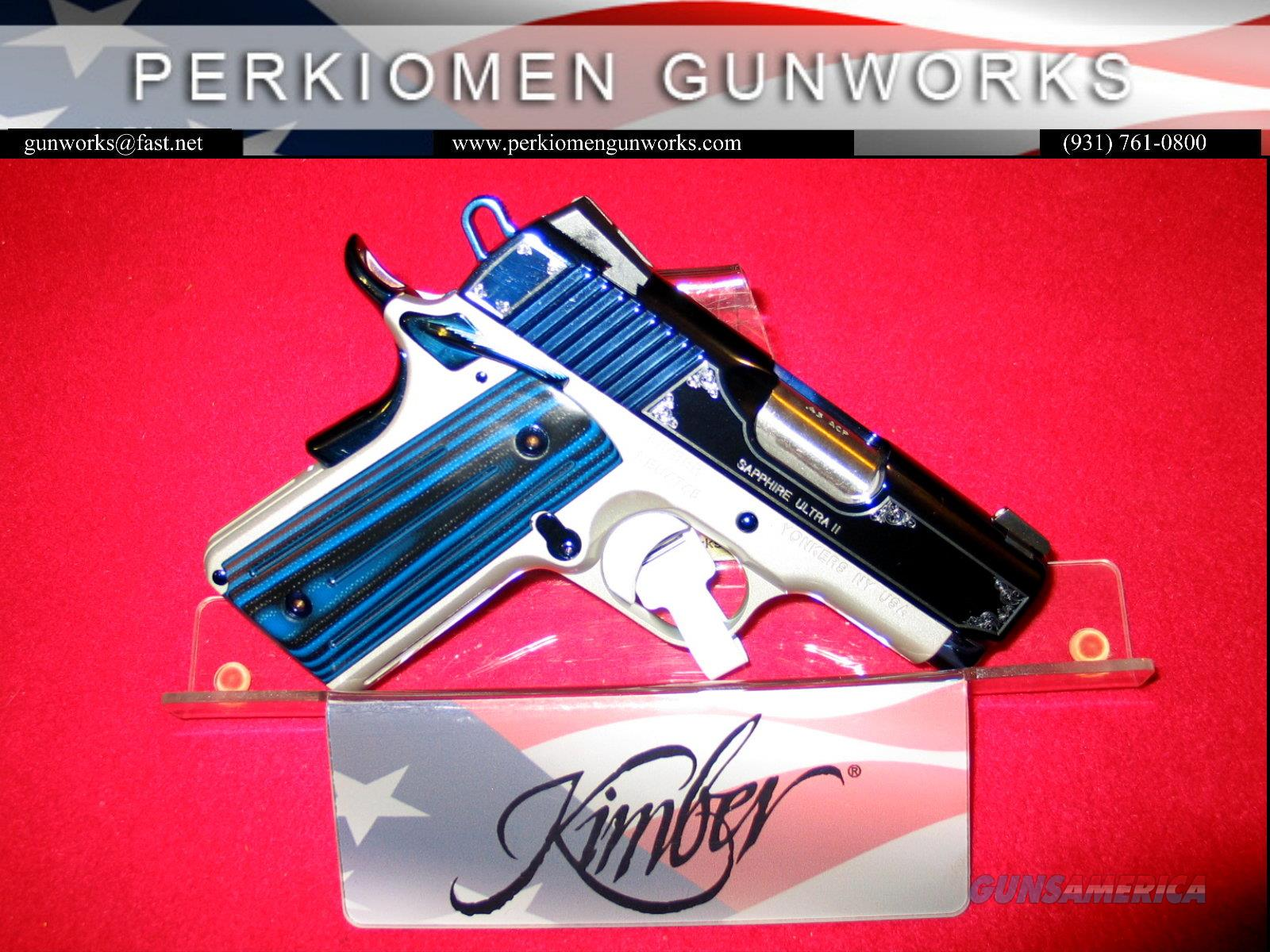 Ultra Sapphire II, .45acp, 3 inch, New in the Box – STUNNINGLY BEAUTIFUL PISTOL!!  Guns > Pistols > Kimber of America Pistols