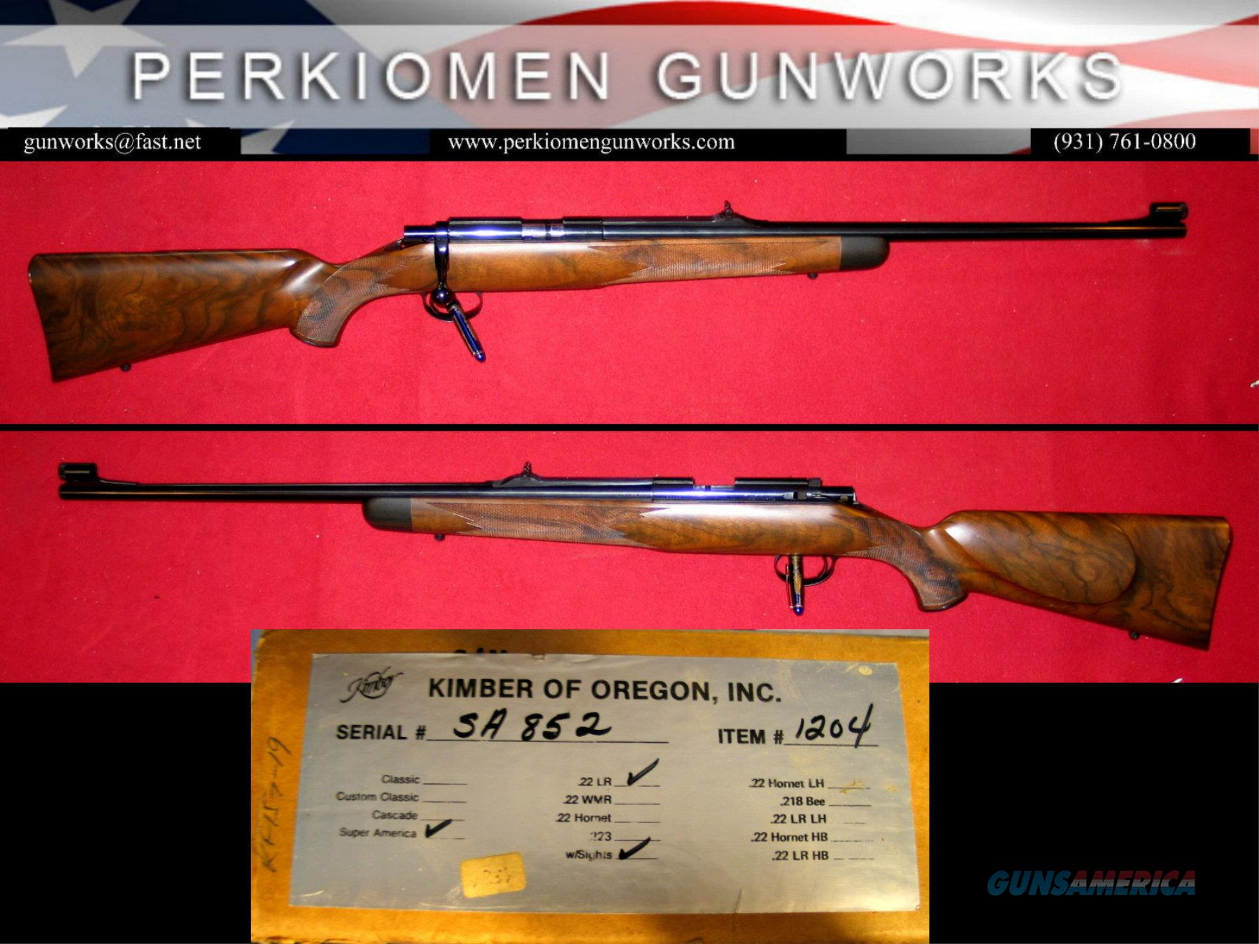 M-82 Super America .22LR – AS NEW IN BOX  Guns > Rifles > Kimber of Oregon Rifles