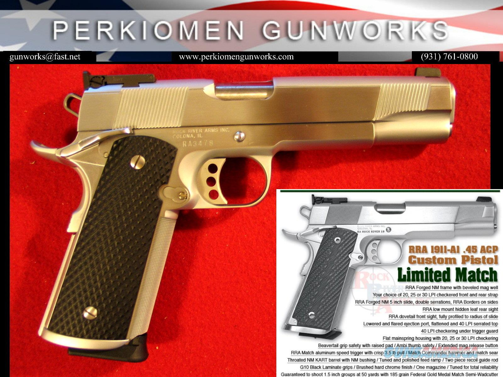 1911-A1 Custom Limited Match, 45acp, New in Box  Guns > Pistols > Rock River Arms Pistols