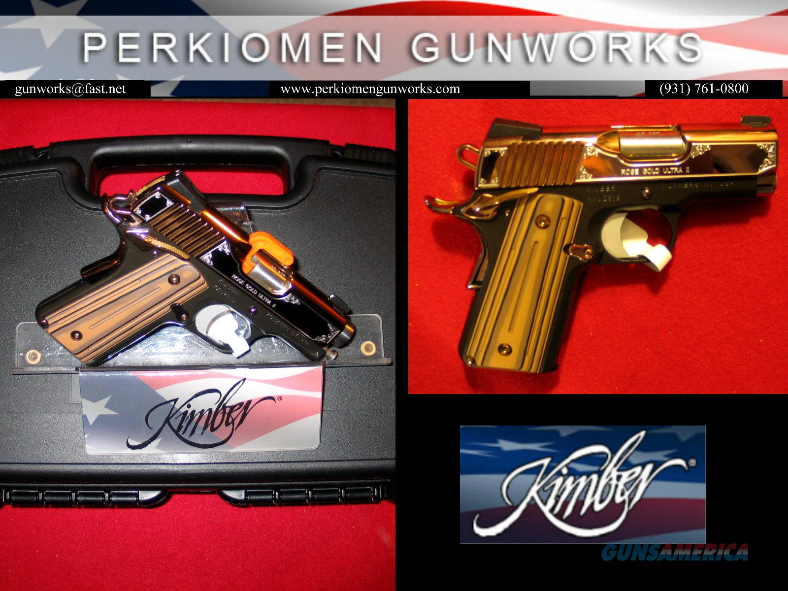 Rose Gold Ultra II in 9MM, 3 inch, New in Box. Custom Shop 2017 Special Issue.  Guns > Pistols > Kimber of America Pistols