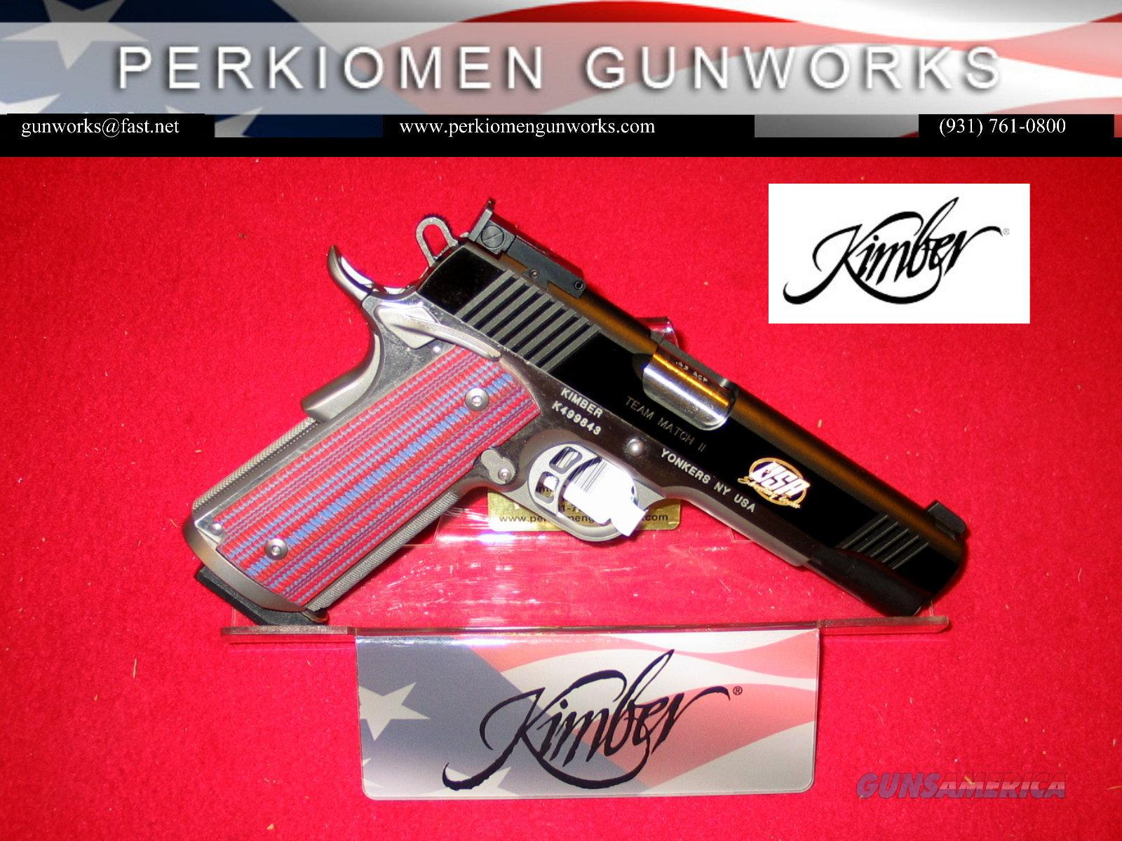 "U.S. Team Match, 45acp, 5"", (2013) New in Box / *SPECIAL SALE*  Guns > Pistols > Kimber of America Pistols"