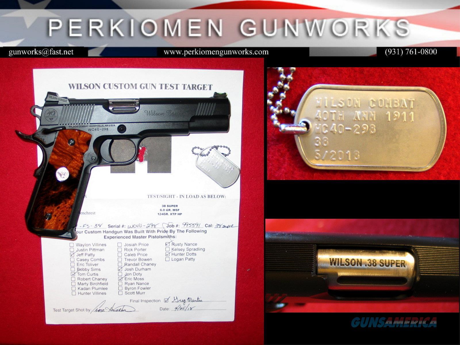 Wilson Combat 40th Anniversary 1911, .38 Super (w/ Stunning Grips!!!)  Guns > Pistols > Wilson Combat Pistols