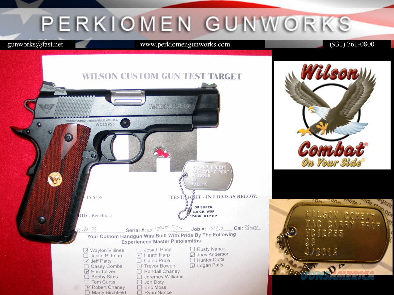 Tactical Carry Professional, .38Super, 4', Full frame with UPGRADES, New  Guns > Pistols > Wilson Combat Pistols