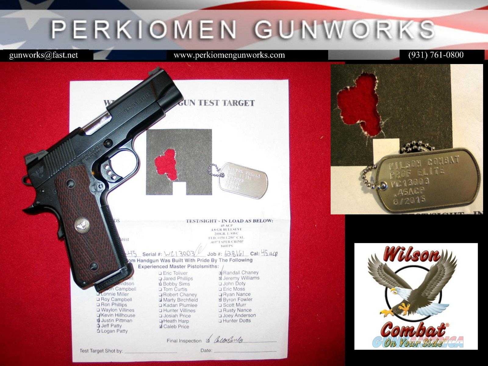 Professional ELITE .45acp w/many upgrade options, New in Case  Guns > Pistols > Wilson Combat Pistols