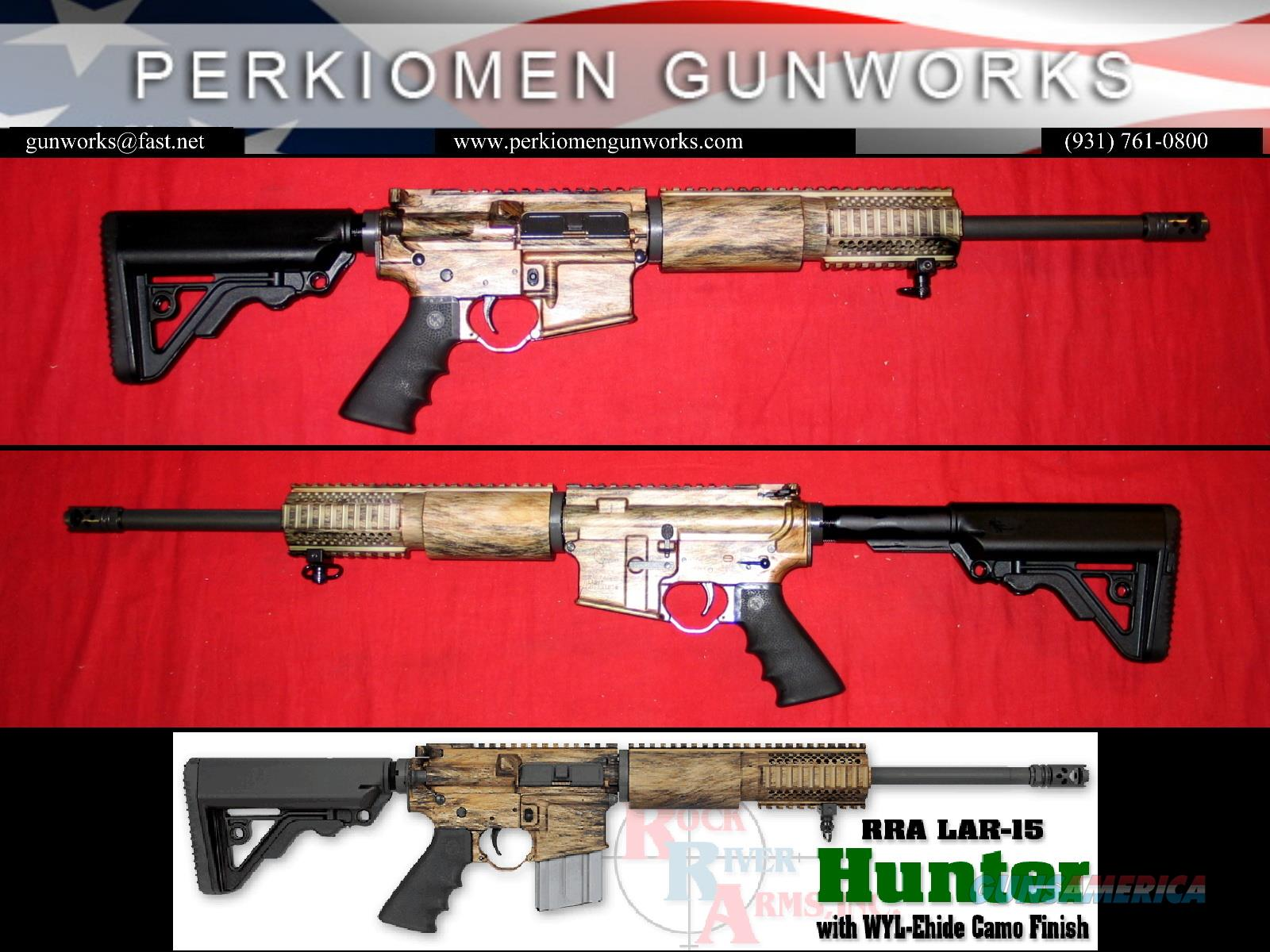 WYL-Ehide LAR-15 Hunter w/Coyote Camo Finish, # WH1000 - New in Hard case  Guns > Rifles > Rock River Arms Rifles