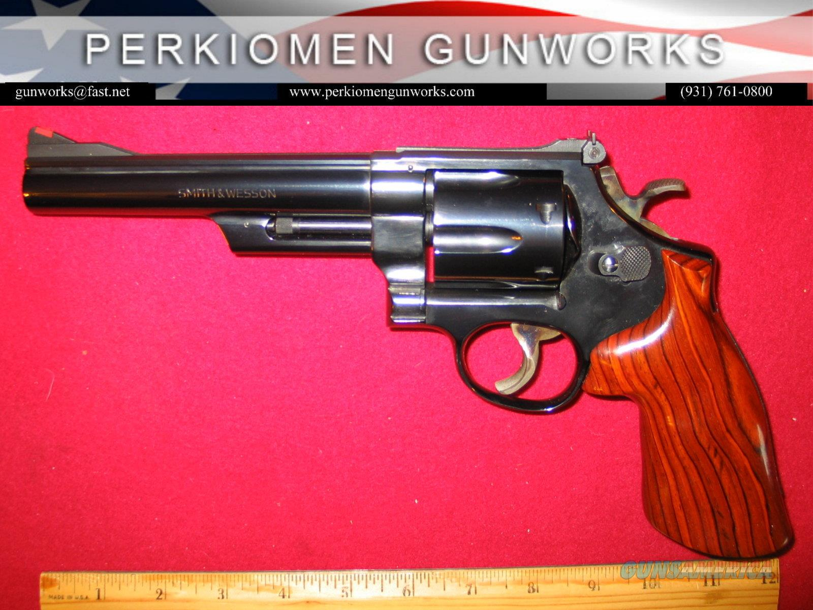 """57 Blued , .41 mag. 6 inch heavy bbl., """"The .41 Magnum Target""""  Guns > Pistols > Smith & Wesson Revolvers > Full Frame Revolver"""